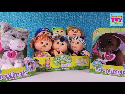 Cabbage Patch Kids Cuties & Adoptimals Pets Plush Baby Doll Toy Review   PSToyReviews
