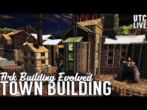 Ark Building Evolved Live :: Medieval Harbor Town Buildings :: Patreon Live Stream :: UniteTheClans