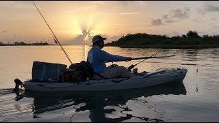 Kayak fishing in beautiful Port O'Connor Texas