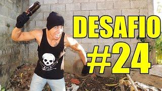 QUEBRANDO GARRAFA DE VIDRO NA CABEÇA DESAFIO  #24