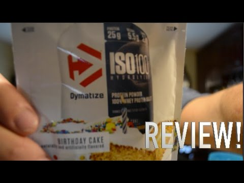 NEW DYMATIZE PROTEIN FLAVOR REVIEW BIRTHDAY CAKE YouTube