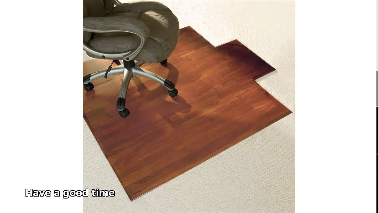 chair mats for hardwood floors - YouTube