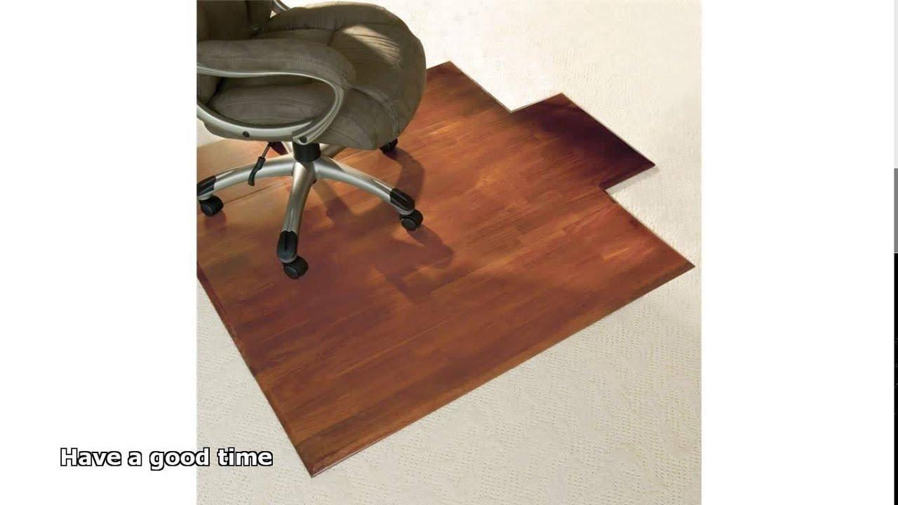 office max hardwood floor chair mat zebra dining chairs mats for floors youtube