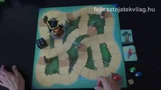 Djeco, Big Pirate játékszabály, kalózos stratégiai társasjáték, 5-9 év
