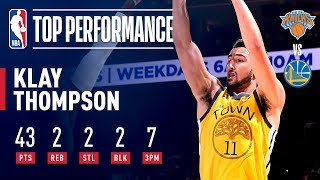 Klay Thompson Catches Fire and Puts Up 43 For Warriors | January 9, 2019