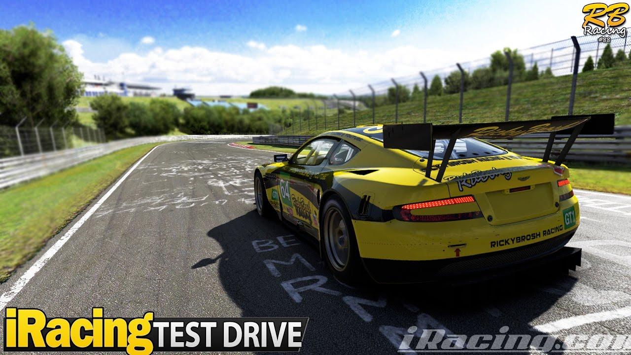 iracing test drive: aston martin db9 gt1 (best sounding car