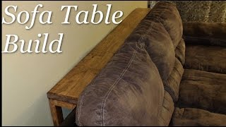 DIY skinny behind the sofa table project