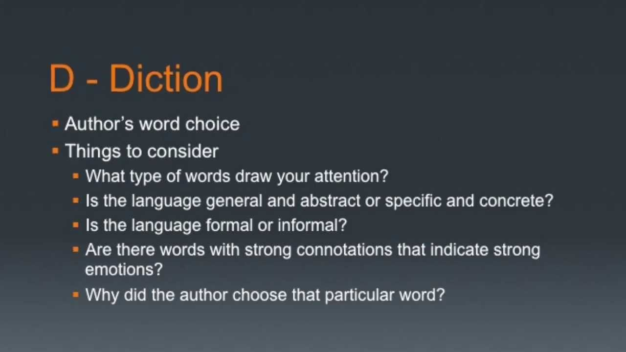 Examples Of Diction In Literature How To Use the ...
