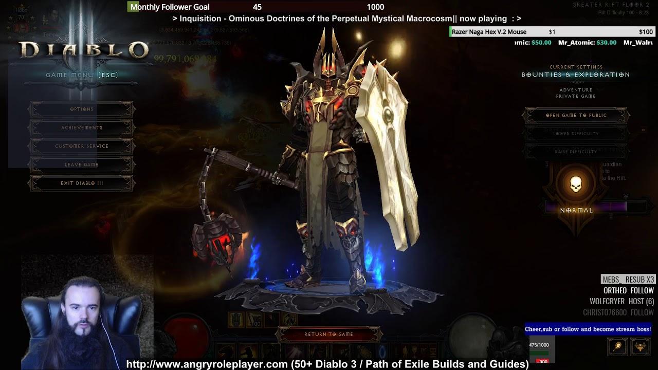 Akkhan Holy Machinegun GR100 Clear Crusader Build for Diablo 3 (2 6 1)