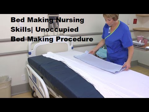 making an unoccupied bed essay Make the bed as though you are making an unoccupied bed, except that the top sheet and blanket are not tucked under the mattress at the foot of the bed, and the.