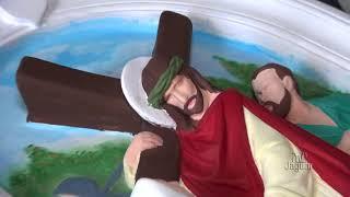 Arte sacra de Darcy Martins é destaque na recuperação das imagens da Igreja de Santo Antônio.