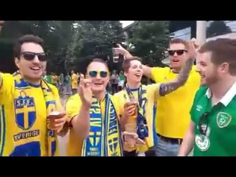 Dave O'Grady vs Sweden Fans