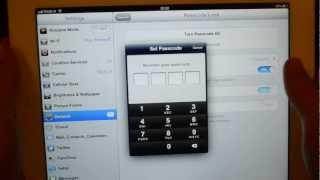 iPad пароль - как установить пароль на iPad / Set a password on ipad(Как поставить пароль на iPad. В этом видео мы научим вас тому, как можно установить пароль на ваш ipad. How to set..., 2012-11-08T17:03:08.000Z)