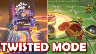 TWISTED MODE All Bosses Super Mario 3D World!!