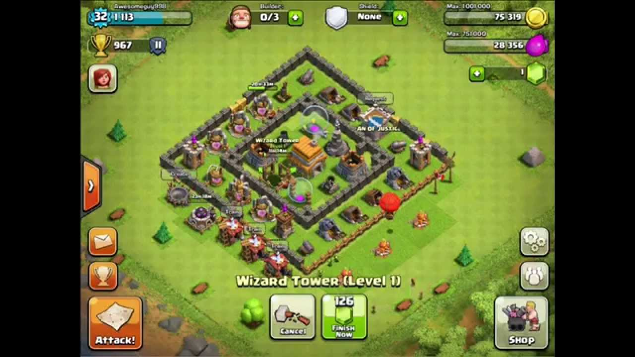 Clash of Clans town hall level 6 defense - YouTube