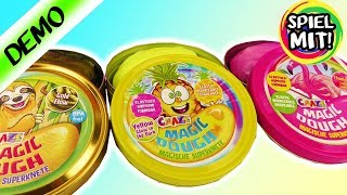 3X INTELLIGENTE KNETE Craze Magic Dough FAULTIER ANANAS FLAMINGO Magische Superknete wechselt Farbe