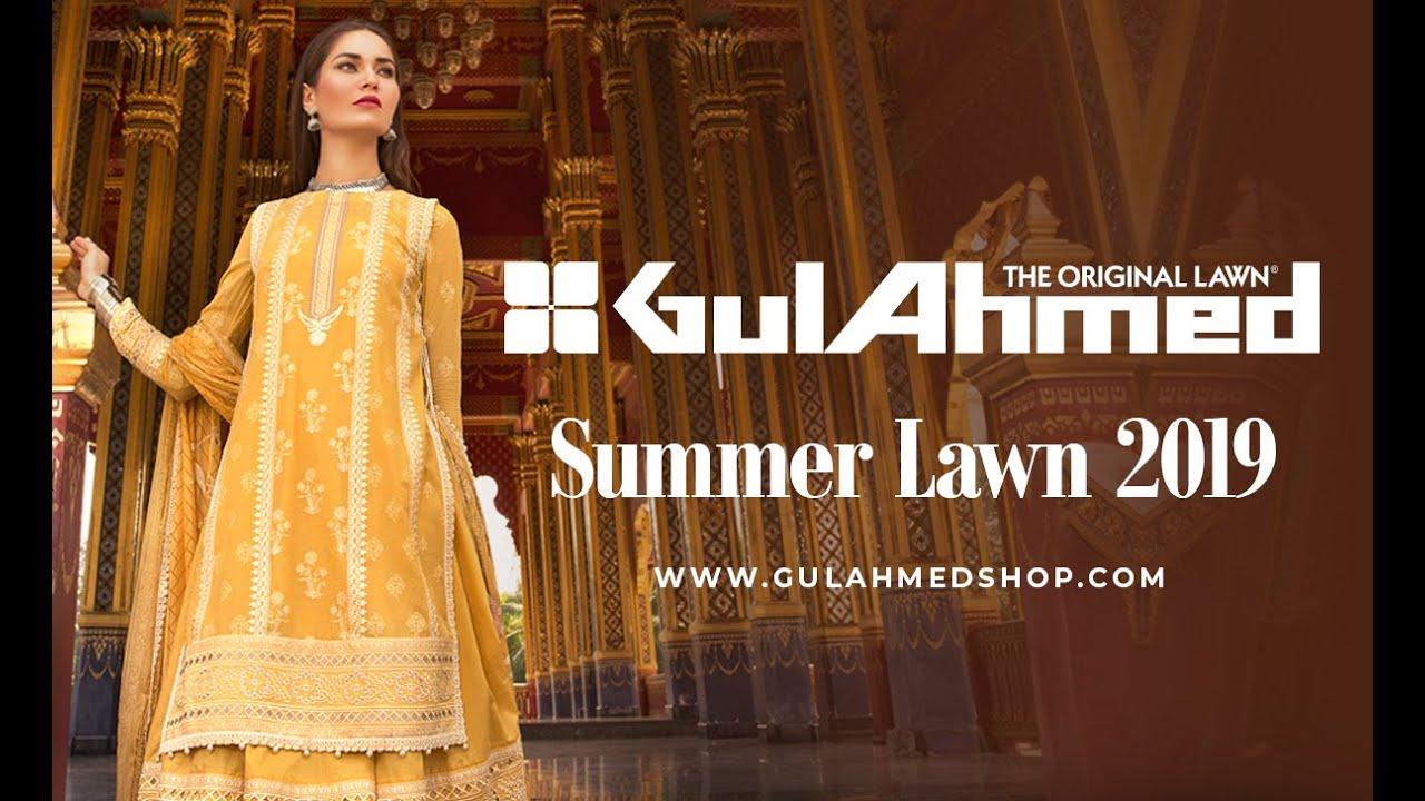 a88899fb11 Gul Ahmed Summer Lawn 2019 - YouTube