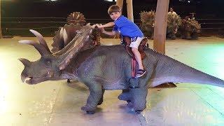 Dinosaur Attack - Dino Riding and Some Playground Fun