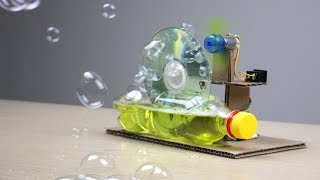 How To Make a Bubble Machine using DC Motor at home - Mr H2 Diy