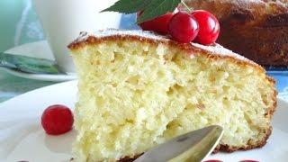 Бисквитный торт или кекс лимонный