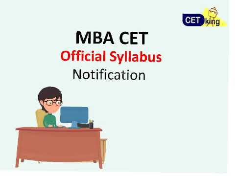 MBA CET 2018 official syllabus and marking scheme notification out