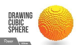 Illustrator Tutorials | Cubic Sphere Isometric Perspective