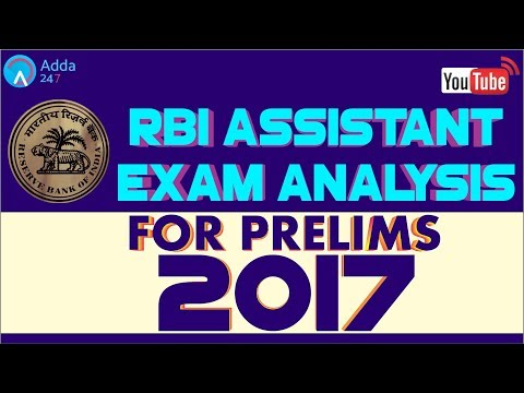 RBI Assistant Prelims Exam Analysis, Review 2017: 27th Nov - Shift 1