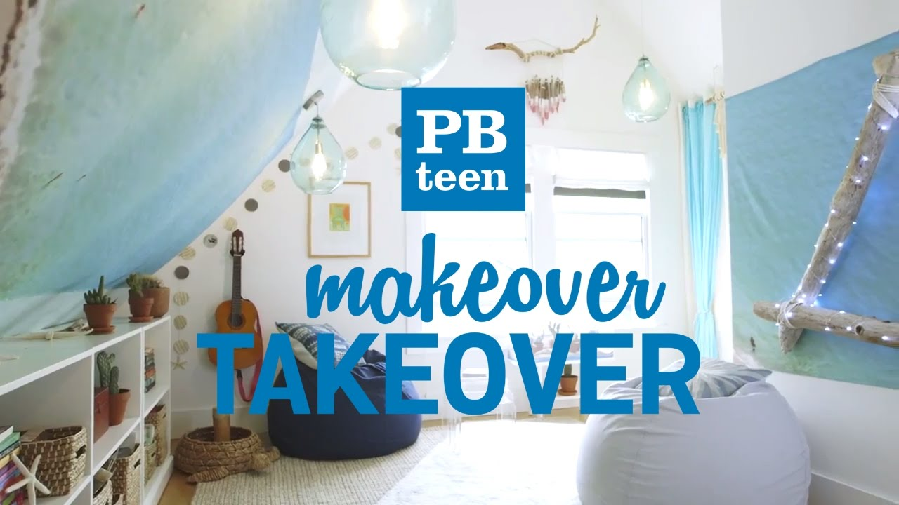 PBteen Makeover Takeover Beanbag Lounge YouTube