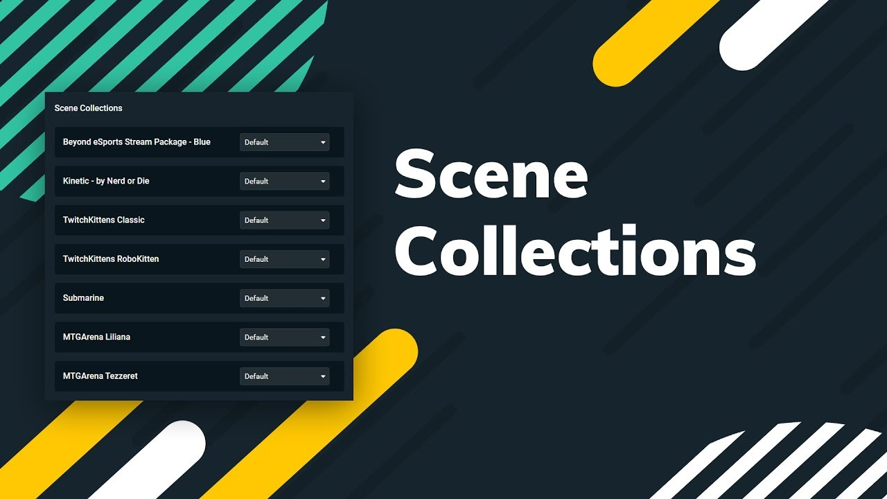 How to Use Scene Collections in Streamlabs OBS | Manage different stream  setups!