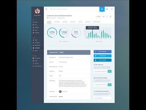 Designing Flat Design Dashboard Using JavaFx