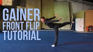 How To Do A Gainer Front Flip | Jessica Miyagi(Miyagi Gymnastics)