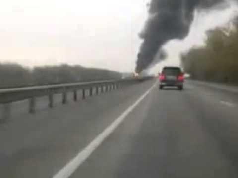 ДТП Ростов Новошахтинск Автобус сгорел на М 4 Xvid