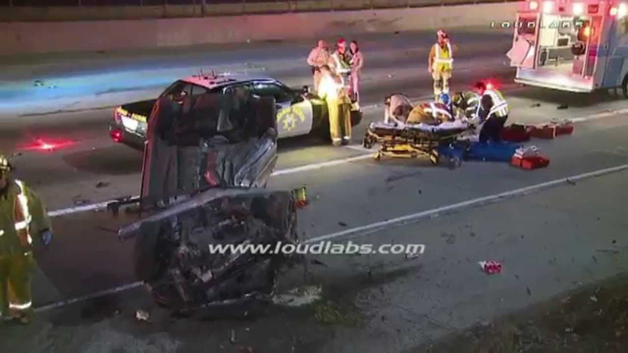 driver ejected killed in freeway crash downey raw footage youtube