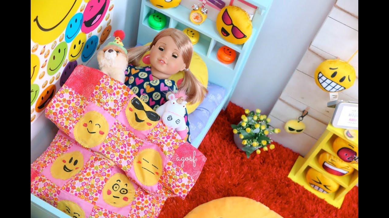 American girl morning routine emoji bedroom youtube - American girl bedroom ideas ...