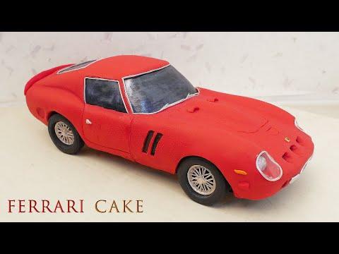Car Cake Tutorial - Ferrari GTO - How To Make A 3D Car Cake