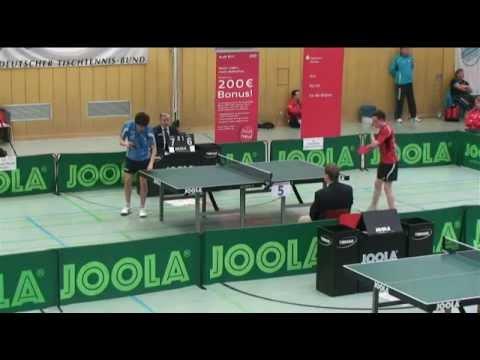HF Dennis Klein - Florian Schreiner // Livestream Deutsche Jugendmeisterschaft Tischtennis 2013