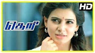 theri movie scenes road fight scene samantha intro vijay falls for samantha rajendran