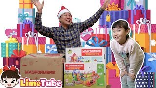 라임이가 작아졌어요! 맥포머스 매직월드 입체자석 장난감 놀이 LimeTube toy review