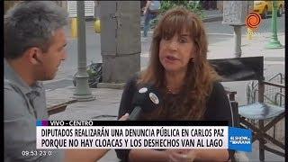Diputados denuncian grave situación del Lago San Roque