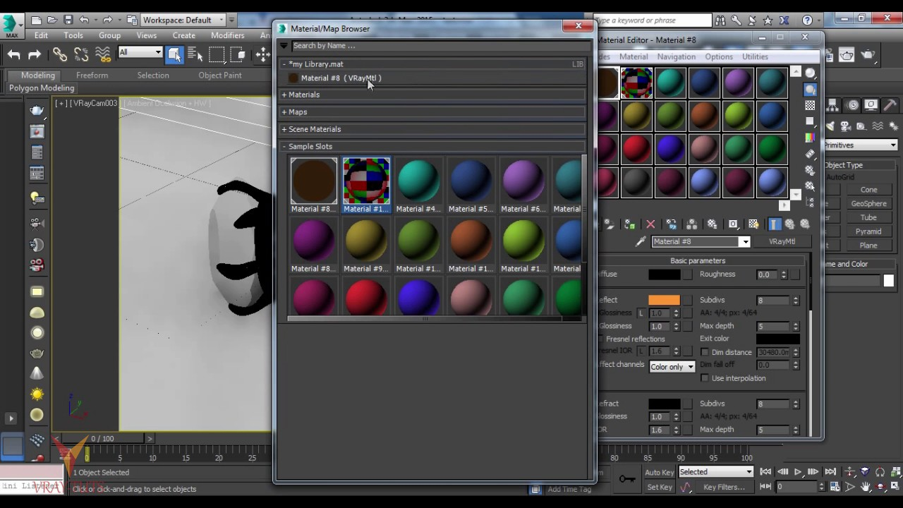 how to create plastic material in 3ds max