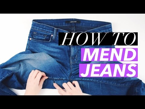 How to Mend Holes in Jeans | WITHWENDY