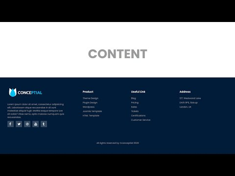 CSS Footer Design   Responsive footer design html css