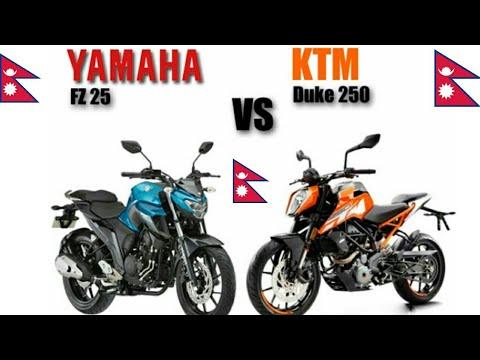 Which To Buy In Nepal Ktm Duke 250 Vs Yamaha Fz25 L Nepal Youtube