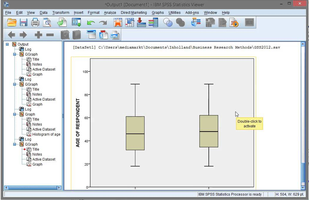 how to draw boxplot in spss