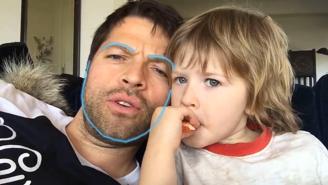 Misha Collins face swaps with his daughter, Maison