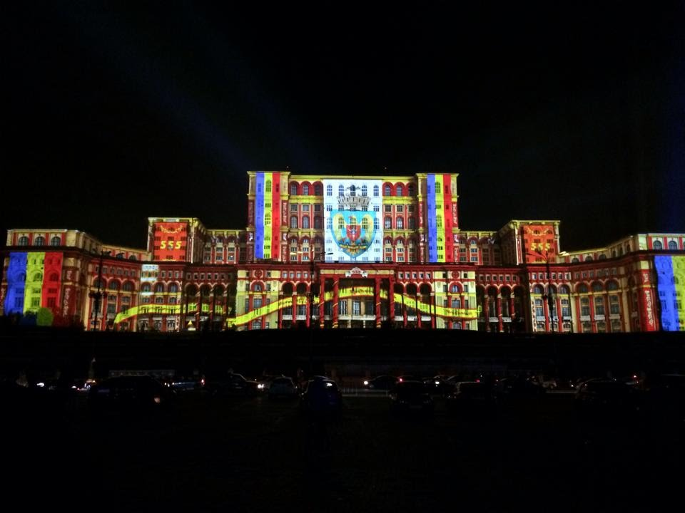 Bucharest Laser Show For It 39 S 555 Years Anniversary Youtube