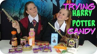 TRYING HARRY POTTER CANDY    HALLOWEEN SWEETS    Taylor and Vanessa