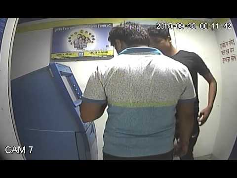 ATM fraud cash withdra at uco bank Hajaratganj lucknow