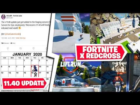 *NEW* Fortnite x Redcross *Life Run LTM*, v11.40 Confirmed Next Week, Overtime Challenges Road Map!
