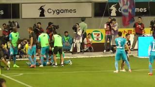後半44分、田川亨介が前線でボールを奪い、福田晃斗がドリブルで突進し...